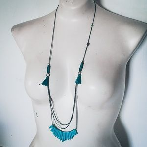 """Uniquely Handcrafted Jewelry - """"Bohemian Rhapsody""""- Turquoise Layered Neckalce"""